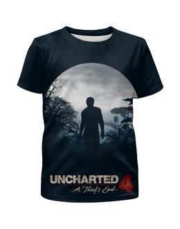 """Футболка с полной запечаткой для девочек """"Uncharted"""" - uncharted, uncharted 4, анчартед"""