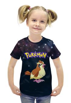 """Футболка с полной запечаткой для девочек """"PoKeMon Pidgey"""" - птица, покемон, pidgey, пиджи"""