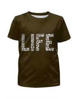"""Футболка с полной запечаткой для девочек """"LIFE. """" - жизнь"""