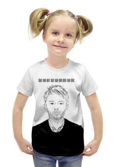 "Футболка с полной запечаткой для девочек ""Radiohead Thom Yorke T-Shirt"" - radiohead, thom yorke, том йорк, радиохед, радиохэд"