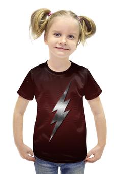 """Футболка с полной запечаткой для девочек """"Флэш (Молния)"""" - flash, молния, флэш"""