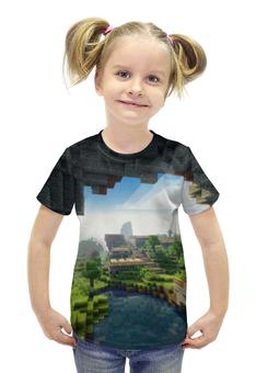 """Футболка с полной запечаткой для девочек """"Minecraft"""" - minecraft"""