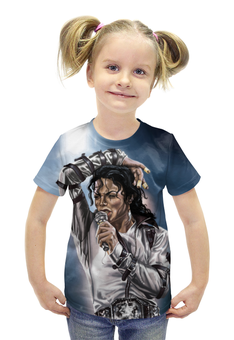 """Футболка с полной запечаткой для девочек """"Michael Jackson"""" - король, майкл джексон, знаменитость, попса, музака"""