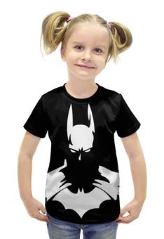 """Футболка с полной запечаткой для девочек """"Batman/Бэтмен"""" - арт, batman, dc, darkknight"""