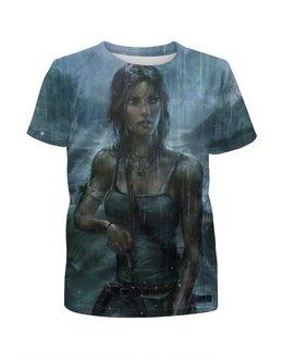 """Футболка с полной запечаткой для девочек """"Лара Крофт (Tomb Raider)"""" - tomb raider, лара крофт, расхитительница гробниц"""
