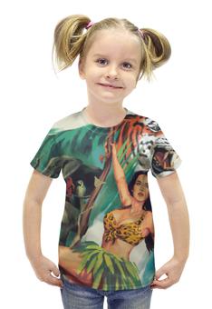 """Футболка с полной запечаткой для девочек """"Katy Perry - Roar"""" - тигр, katy perry, рев, roar, кэти перри"""