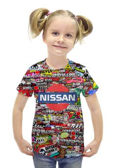 """Футболка с полной запечаткой для девочек """"Nissan_ARSB"""" - авто, марка, ниссан, арс"""