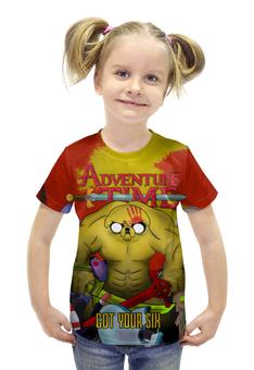 """Футболка с полной запечаткой для девочек """"Adventure Time - Got Your Six"""" - adventuretime, время приключений, 5fdp, fivefingerdeathpunch, gotyoursix"""