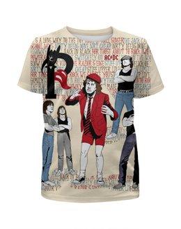 """Футболка с полной запечаткой для девочек """"AC/DC """" - hard rock, ac dc, ac-dc, эйси диси, хеви метал"""