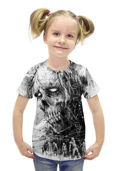 """Футболка с полной запечаткой для девочек """"Зомби"""" - зомби, апокалипсис, мертвецы"""
