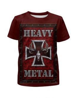 """Футболка с полной запечаткой для девочек """"Heavy Metal Art"""" - heavy metal, рок музыка, арт дизайн, хеви метал, rock music"""