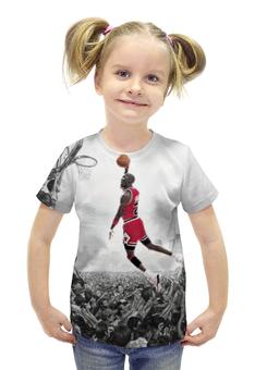 """Футболка с полной запечаткой для девочек """"Майкл Джордан (Michael Jordan)"""" - nba, нба, michael jordan, майкл джордан"""