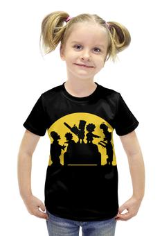 """Футболка с полной запечаткой для девочек """"Симпсоны зомби"""" - simpsons, симпсоны"""
