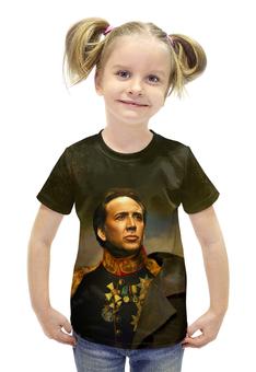 """Футболка с полной запечаткой для девочек """"Nicolas Cage"""" - актёр, николас кейдж"""