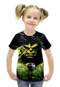 """Футболка с полной запечаткой для девочек """"Халк (Мстители)"""" - hulk, мстители, халк"""