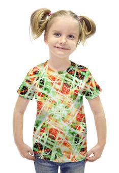 """Футболка с полной запечаткой для девочек """"glitch art (пати)"""" - фото, пати, glitch art, wax, глитч"""