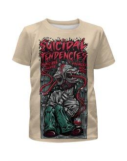 """Футболка с полной запечаткой для девочек """"Suicidal Tendencies band"""" - heavy metal, рок музыка, thrash metal, хеви метал, suicidal tendencies"""