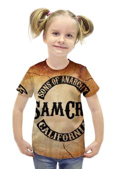 """Футболка с полной запечаткой для девочек """" sons of anarchy"""" - дети, sons of anarchy, сыны анархии, анархии"""