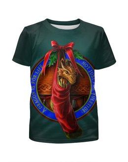 """Футболка с полной запечаткой для девочек """"Необычный подарок"""" - дракон, подарок, dragon, дракончик, арт дизайн"""