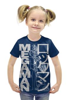 """Футболка с полной запечаткой для девочек """"Mega man (Rockman)"""" - арт, games, ретро, megaman, barreljumpers"""