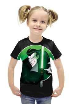 """Футболка с полной запечаткой для девочек """"Джокер / Joker"""" - рисунок, джокер, джедай"""