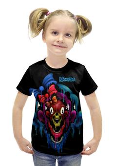 """Футболка с полной запечаткой для девочек """"Monster"""" - skull, череп, monster, монстр, арт дизайн"""