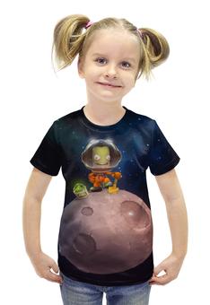 """Футболка с полной запечаткой для девочек """"Kerbal Space Program"""" - арт, kerbal space program"""