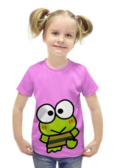 """Футболка с полной запечаткой для девочек """"Frogs"""" - мультик, лягушка, мульт, забавная, frog"""