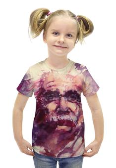 """Футболка с полной запечаткой для девочек """"Альберт Эйнштейн (Albert Einstein)"""" - альберт эйнштейн"""