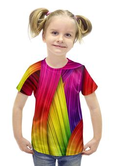 """Футболка с полной запечаткой для девочек """"Абстракция"""" - узоры, цвет, абстракция, абстракционизм, арт дизайн"""