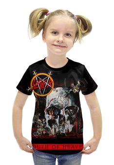 """Футболка с полной запечаткой для девочек """"SLAYER South Of Heaven 1988"""" - музыка, рок, металл, slayer, thrash metal"""