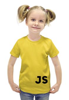 """Футболка с полной запечаткой для девочек """"Javascript"""" - javascript, программирование, js"""