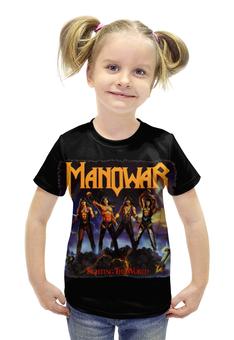 """Футболка с полной запечаткой для девочек """"Manowar Band"""" - heavy metal, рок музыка, хэви метал, manowar, мановар"""