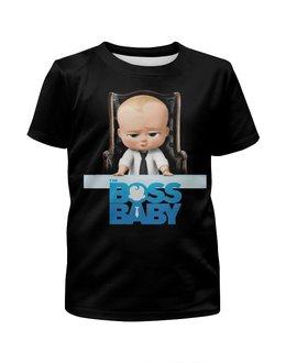 """Футболка с полной запечаткой для девочек """"Босс-молокосос / The Boss Baby"""" - мультфильм, рисунок, кино, малыш, босс"""