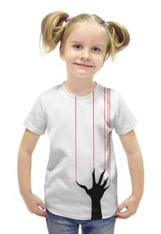 """Футболка с полной запечаткой для девочек """"Halloween monster"""" - хэллоуин, ужас, monster, монстр"""