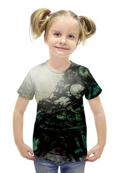 """Футболка с полной запечаткой для девочек """"Pop Art"""" - арт, комиксы, dc, зеленая стрела"""