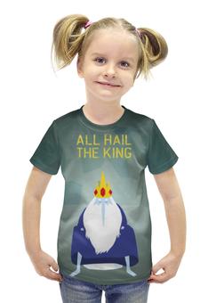 """Футболка с полной запечаткой для девочек """"Ледяной король """" - adventure time, время приключений, ледяной король"""