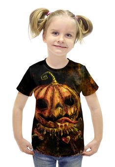 """Футболка с полной запечаткой для девочек """"Хэллоуин"""" - праздник, хэллоуин, рисунок"""