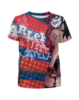 """Футболка с полной запечаткой для девочек """"Харли Квинн (Harley Quinn)"""" - харли квинн, harley quinn, dc comics"""