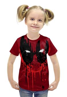 """Футболка с полной запечаткой для девочек """"Дэдпул (Deadpool)"""" - комиксы, marvel, марвел, дэдпул, deadpoo"""