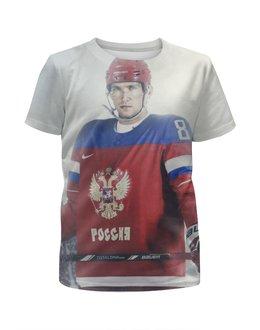"""Футболка с полной запечаткой для девочек """"Александр Овечкин"""" - хоккей, овечкин, вашингтон, сборная россии по хоккею"""