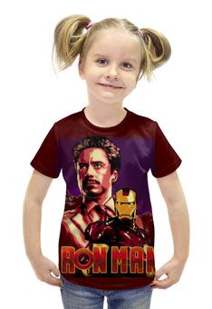 """Футболка с полной запечаткой для девочек """"Iron Man/Железный человек"""" - фантастика, marvel, железный человек, iron man, ironman"""