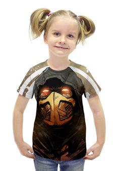 """Футболка с полной запечаткой для девочек """"Mortal Kombat"""" - игры, скорпион, mortal kombat, смертельная битва, mk"""
