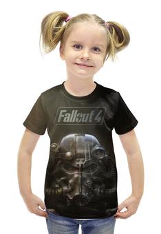 """Футболка с полной запечаткой для девочек """"Fallout 4"""" - fallout, vault, fallout4, newvegas"""