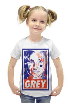 """Футболка с полной запечаткой для девочек """"Саша Грей (Grey)"""" - obey, grey, саша грей"""