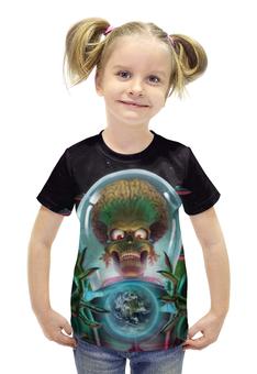 """Футболка с полной запечаткой для девочек """"Марс атакует! / Mars Attacks!"""" - рисунок, кино, инопланетяне"""