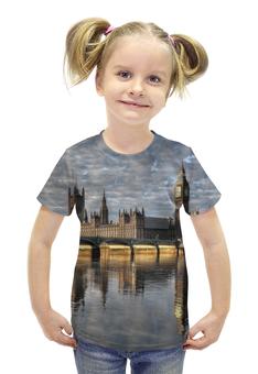 """Футболка с полной запечаткой для девочек """"Лондон"""" - лондон, англия, биг бен"""