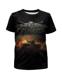 """Футболка с полной запечаткой для девочек """"World Of Tanks"""" - игра, game, world of tanks, танки, wot"""