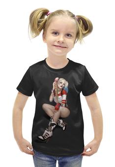 """Футболка с полной запечаткой для девочек """"Harley Quinn"""" - харли квинн, suicide squad"""