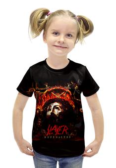 """Футболка с полной запечаткой для девочек """"Slayer Repentless 2015 (2)"""" - музыка, рок, металл, slayer, thrash metal"""